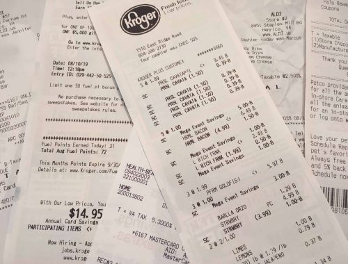 Grocery receipts can add up, save money with these 8 tips!