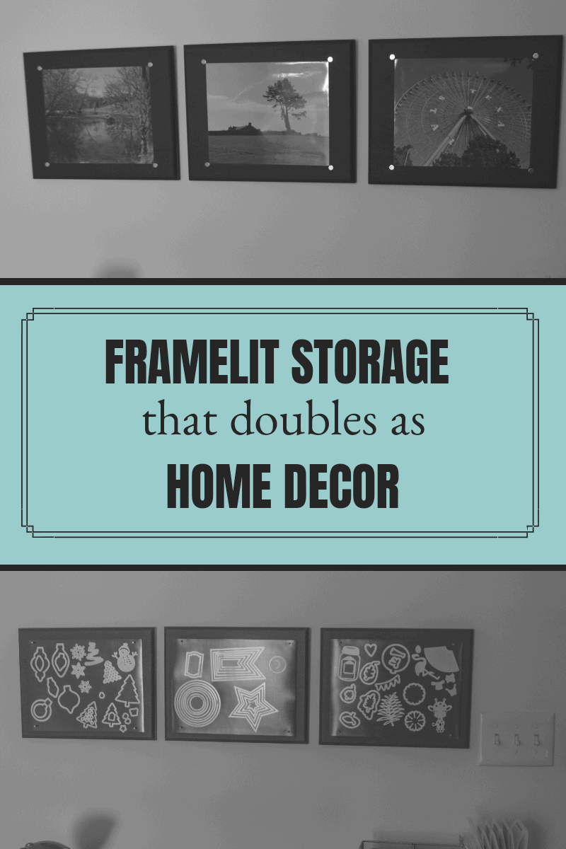 Organize framelits vertically to easily see them.