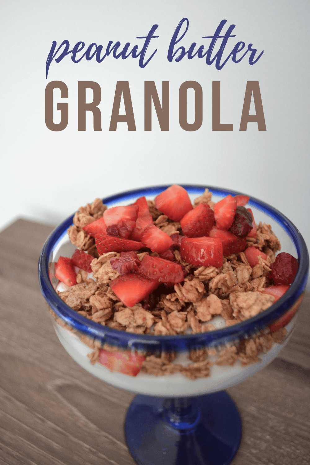 peanut butter granola with berries is a delicious combo