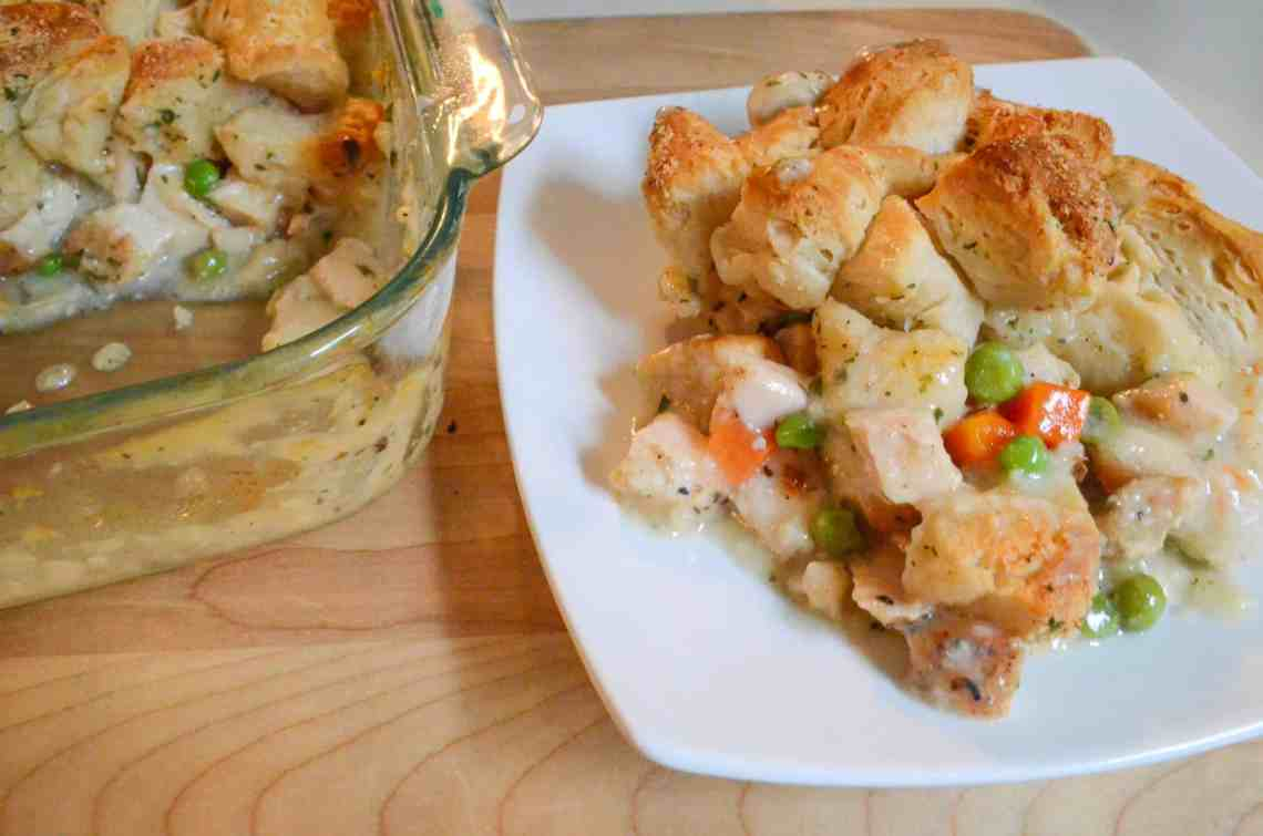 chicken pot pie casserole is a hearty comforting meal