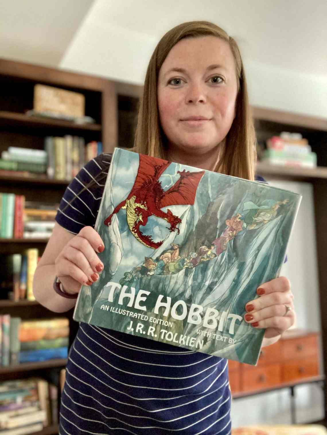 my favorite childhood books includes Tolkien's The Hobbit