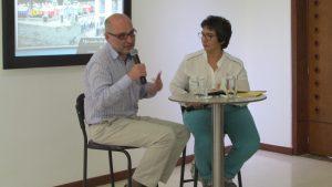 Pedro Badrán y Beatriz Vanegas en la Casa del Libro Total.