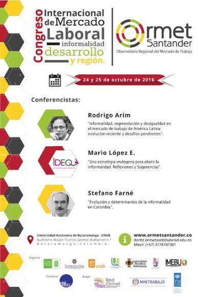 Economistas invitados al Congreso Internacional de Mercado Laboral.