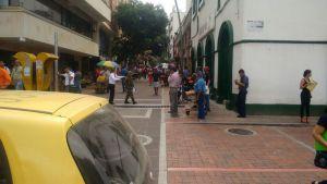 El 27 de enero de este año la Alcaldía de Bucaramanga y la Dirección de Tránsito implementaron la medida de restricción vehicular, ocasionando una respuesta negativa por parte de los comerciantes. /FOTO SOFÍA ARENAS