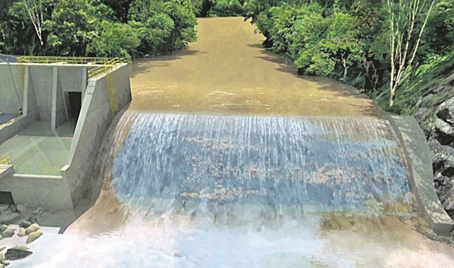 Modelo 3D de la hidroeléctrica. / TOMADO CARTILLA PROYECTO PIEDRA DEL SOL