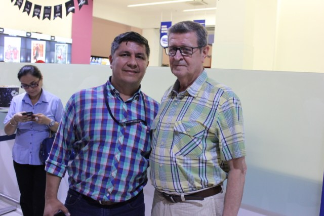 Edgar de Jesús Rojas y Jaime Serrano fueron los dos actores que estuvieron presentes en el estreno de 'Armero' en Bucaramanga. FOTO CRISTIAN EDUARDO BELTRÁN