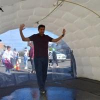 Tianguis de Guadalupe ya cuenta con Túneles Sanitizadores