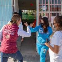 Sin intermediarios, entrega Gobierno de México recursos para Mejoramiento de escuelas en La Luz, Guadalupe