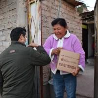 Julio respeta salud de la gente; casa X casa para entregar apoyos Alimentarios en Guadalupe