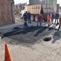 Calles de La Fe son intervenidas con el Bacheo Permanente
