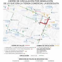 """Habrá Operativo vial por Demolición de """"La Bodeguita"""" en Guadalupe"""