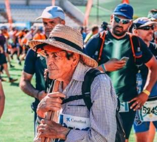 'Super Paco' en una de las pruebas de montaña en las que participó