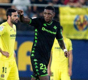Emerson celebra el gol ante el Villarreal. Imagen: DiariodeSevilla
