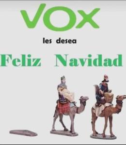 Meme. Vox os desea Feliz Navidad/vía whatsapp
