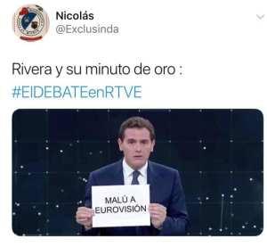 Meme. Rivera en su minuto de oro//@Exclusinda