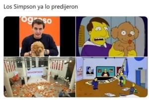 Meme. Los Simpson, siempre 20 pasos por delante/vía Twitter