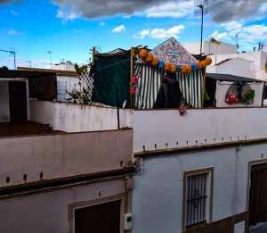 Una caseta en una azotea en Mairena del Alcor