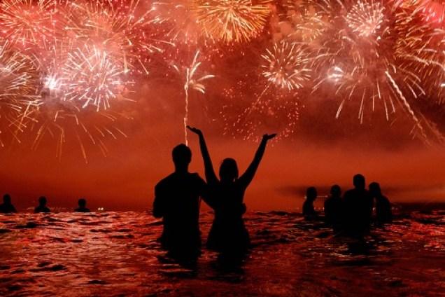 año nuevo en el mar