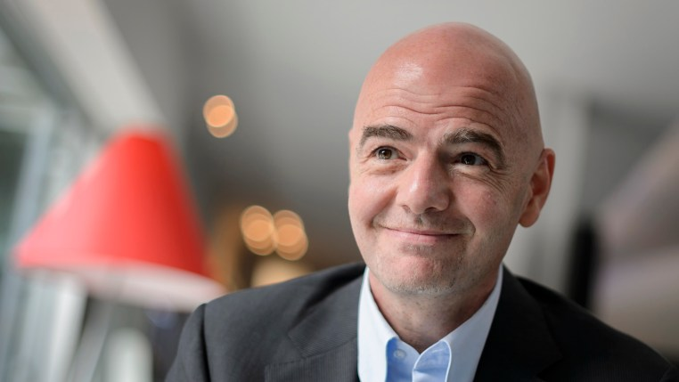 FIFA presidential candidate Gianni Infantino smiles during an interview with AFP on February 24, 2016 in Zurich. FIFA presidential favourites Gianni Infantino and Sheikh Salman bin Ebrahim Al-Khalifa embarked on a final scramble for votes ahead of the election to lead world football's scandal-tainted governing body. / AFP / FABRICE COFFRINI        (Photo credit should read FABRICE COFFRINI/AFP/Getty Images)