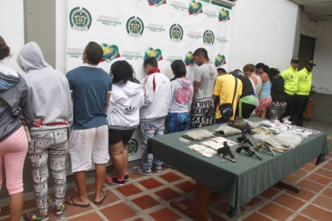 Capturados-Los-del-Obrero-banda-Policia-Cali