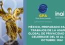 MÉXICO, PREPARADO PARA LOS TRABAJOS DE LA ASAMBLEA GLOBAL DE PRIVACIDAD 2021, A CELEBRASE DEL 18 AL 21 DE OCTUBRE: INAI