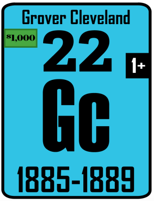 The Periodic Table of the Presidents - Grover Cleveland 22