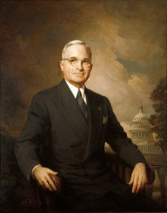 Harry S Truman Official Portrait - The Periodic Table of the Presidents