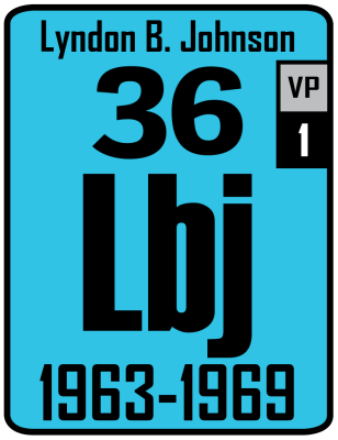 The Periodic Table of the Presidents - Lyndon B. Johnson