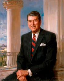 Ronald Reagan Official Portrait - The Periodic Table of the Presidents