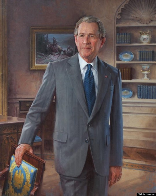 George W. Bush Official Portrait - The Periodic Table of the Presidents