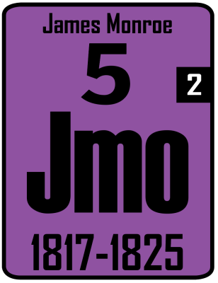 The Periodic Table of the Presidents - James Monroe, Jmo