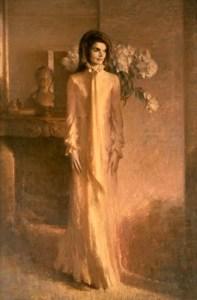 Jackie Kennedy Portrait - by Aaron Shikler