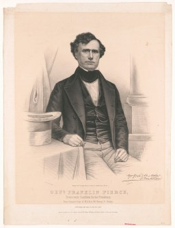 14 Franklin Pierce, Gen. Franklin Pierce - Democratic Candidate for the Presidency, print published by Wagner _ McGuigan's c. 1840s