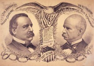24 Gc, For President, Grover Cleveland, campaign poster, 1892