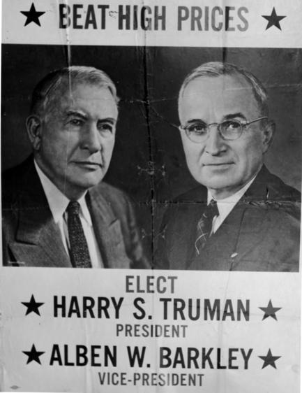 33 Hst, Beat High Prices, Harry S. Truman President, Alben W. Barkley Vice-President