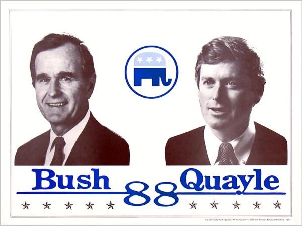 41 Gb, Bush-Quayle '88, poster, 1988