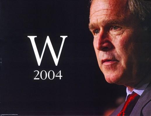 43 Gwb, W 2004, poster, 2004