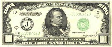1000 Dollar Bill Front