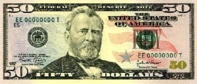 50 Dollar Bill Front