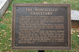 The Monticello Graveyard Sign