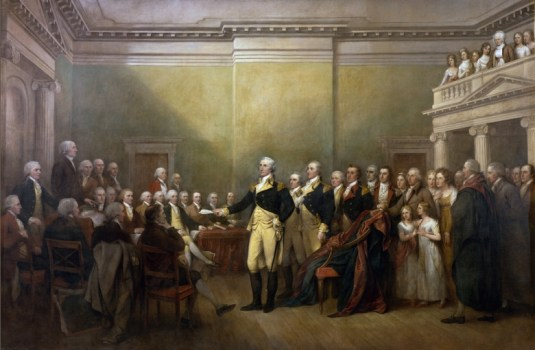 General George Washington Resigning His Commission by John Trumbull, 1824