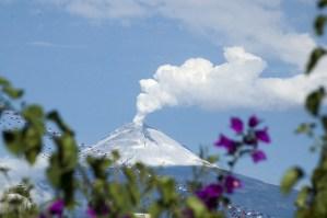 Impresionante explosión del volcán Popocatépetl