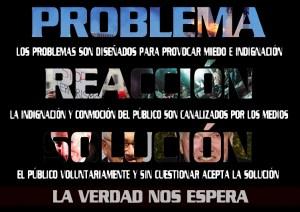 Problema-Reacción-Solución: Así funciona el mundo