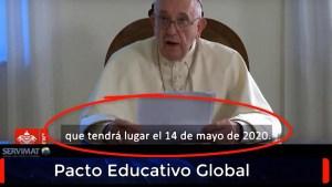 El 14 de mayo de 2020 comienza el Nuevo Orden Mundial de acuerdo al Papa Francisco