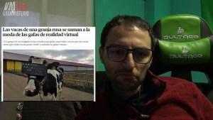 Los granjeros les ponen gafas de realidad virtual a sus Vacas