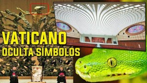 El Vaticano esconde símbolos reptilianos de serpientes en sus edificios