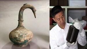 Arqueólogos chinos descubren una vasija con un misterioso líquido de 2.000 años de antigüedad