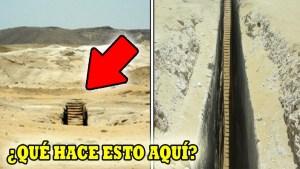 Hallan misteriosas escaleras en medio del desierto de Egipto