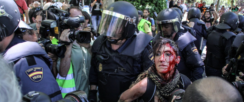 protesta mineros madrid detención sangre