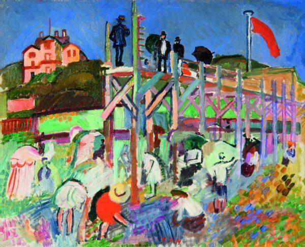 Raoul Dufy. L'Estacade du Casino Marie Christine à Sainte Adresse, 1906. VRGAP Madrid 2016. P. Richard Eells